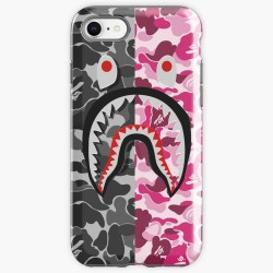 Bape Shark Black And Pink Iphone Case Cover