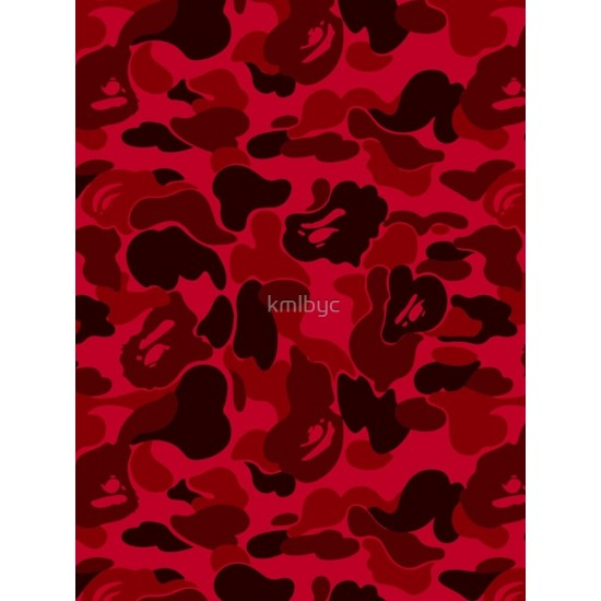 Bape Camo Dark Red Iphone Case Cover