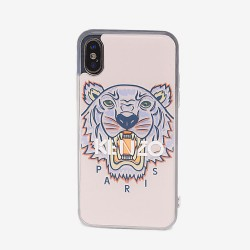 Kenzo Faded Pink Tiger Paris Logo Iphone X Xs Case