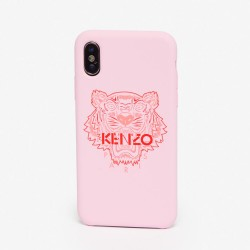 Kenzo Pastel Pink Tiger Paris Logo Iphone X Xs Case