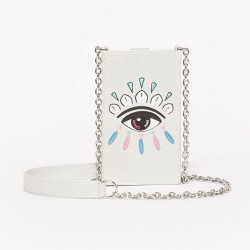 Kenzo Silver Eye Phone Case And Chain