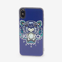 Kenzo Slate Blue Tiger Paris Logo Iphone X Xs Case