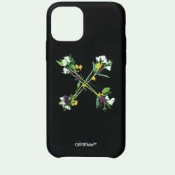 Off White Black Green Flowers Iphone 11 Pro Case